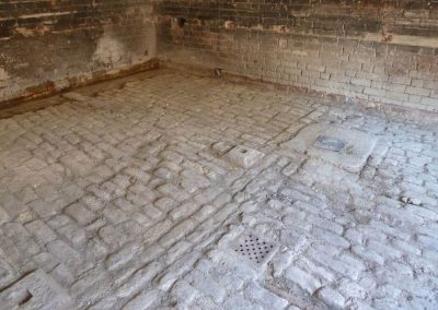Original cobbled floor of Deans Farm Building